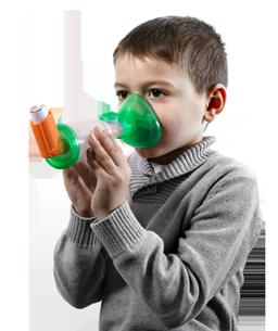 La chambre d'inhalation TipsHaler® et le masque pédiatrique OrHal®