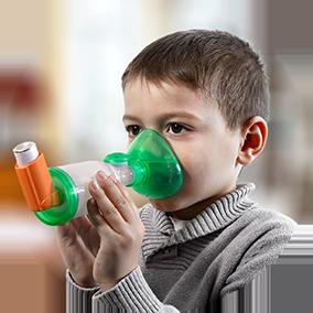 La chambre d'inhalation TipsHaler avec le masque pédiatrique Orhal
